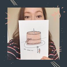 Happy birthday to me! Today is the day to eat ALL THE CAKE I WANT 🤩   I made a birthday card to myself because I can't celebrate with my friends this year (damn you covid)!   Hope you all have a lovely week 👏🏻   Happy Birthday Cakes, Girl Birthday, Birthday Cards, My Friend, Friends, Illustration Sketches, Illustrator, Eat, Instagram Posts