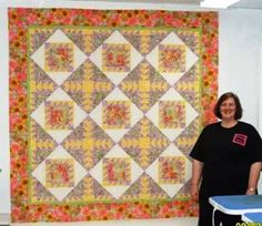 """My """"Solomon's Secret"""" from the Q Tomball Retreat 2008 - pattern designed by Connie Eicher, Shanoa Quilt Designs"""