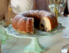 Blueberry buttermilk bundt cake.