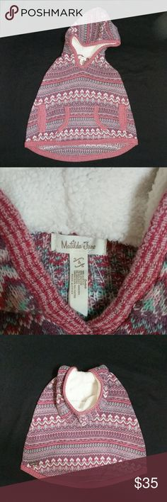 Matilda Jane MJC Girls sz 4 Sweater Poncho Friends Forever Braylon Hooded Sweater Poncho. Retail Value $72. Worn & washed only once. Matilda Jane Shirts & Tops Sweaters