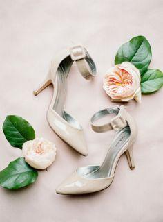 Nude heels: http://www.stylemepretty.com/2015/04/27/marie-antoinette-inspired-washington-farm-wedding/   Photography: Coco Tran - http://www.cocotran.com/