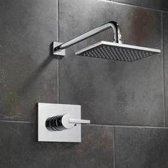 T14253-SS,CZ Delta Vero Thermostatic Shower Faucet with Monitor & Reviews | Wayfair Tub And Shower Faucets, Bathroom Faucets, Bathrooms, Bathroom Toilets, Bathroom Renovations, Small Bathroom, Master Bathroom, Bathroom Ideas, Shower Arm