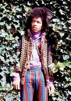Jimi Hendrix photographed by Fiona Adams, 1967.