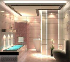 Bathroom interior design home Bathroom Lighting Design, Bathroom Interior Design, Eclectic Bathroom, Modern Bathroom, Bathroom Ideas, Master Bathroom, Sauna Lights, Contemporary Baths, Bath Design