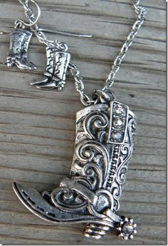 Boots Up Necklace Set  at Cowgirl Blondie's Western Boutique