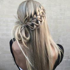11.8 тыс. отметок «Нравится», 81 комментариев — behindthechair.com (@behindthechair_com) в Instagram: «* Lace Loop Braid + Messy Bun ... by @n.starck #behindthechair #braids»