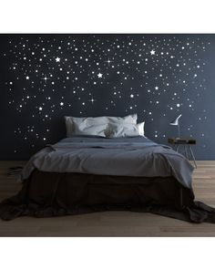 Looking for inspiration for remodel your dreamy room? Here are some ideas to make your dreamed room become reality! check out beautiful room ideas for your inspirations! Tumblr Bedroom, Teen Bedroom, Bedroom Wall, Bedroom Decor, Star Bedroom, Bedrooms, Bedroom Ideas, Dream Rooms, Dream Bedroom
