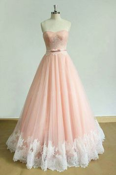 Ball Gown Prom Dress, elegant long prom dress sweetheart applique a-line pink evening dress Shop Short, long ball gowns, Prom ballroom dresses & ball skirts Pretty ball gowns, puffy formal ball dresses & gown Ball Gowns Prom, A Line Prom Dresses, Tulle Prom Dress, Dresses For Teens, Ball Dresses, Long Dresses, Dress Lace, Wedding Dresses, Pink Dress