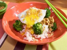 Get Sunny's Lemon Teriyaki Chicken and Rice Bowl Recipe from Food Network