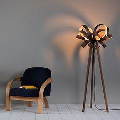 Buy Tom Raffield Skipper Floor Lamp, Walnut Online at johnlewis.com