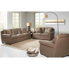 ravishing costco living room sets. Stone Haven 3 piece Top Grain Leather Living Room Set Mansell  living room Pinterest