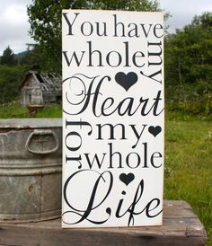 You Have My Whole Heart Vintage Wedding Hand by AmberMooreDesigns, $39.99