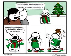 A Christmas comic featuring eggnog and radio-controlled Godzillas Christmas Comics, Toddler Christmas, Smiles And Laughs, Hilarious, Funny, A Comics, Comic Strips, Chibi, Oatmeal