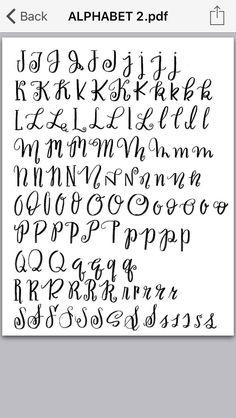 Brush lettering 2 Lettering Brush, Hand Lettering Alphabet, Handwritten Letters, Lettering Styles, Calligraphy Letters, Typography Letters, Caligraphy, Doodle Fonts, Doodle Lettering