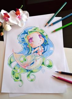 Mermaid Elly by Lighane