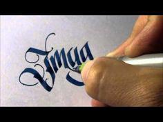 Parallel pen Calligraphy - Imagine - YouTube