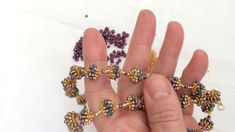 Necklace Tutorial, Earring Tutorial, Beaded Earrings, Beaded Bracelets, Stud Earrings, Beaded Bead, Beading Tutorials, Beading Patterns, Hobbies To Try