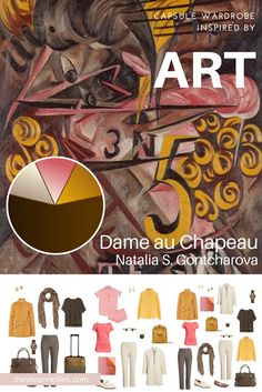 Dame au Chapeau by Natalia S. Gontcharova Revisiting a travel capsule wardrobe for Spring 2018