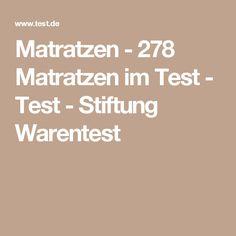 Matratzen 278 Matratzen Im Test Test Stiftung Warentest