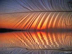 Kuş Tüyü Gün Batımı... - Feather Sunset Reflection!!