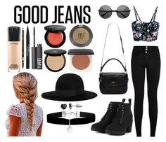 """High Waisted Jeans // The Look"" by marymh on Polyvore"