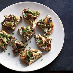 Wild Mushroom Crostini // More Bruschetta and Crostini Recipes: http://www.foodandwine.com/slideshows/bruschetta-and-crostini #foodandwine