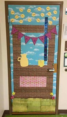 Lemonade Stand Classroom Door