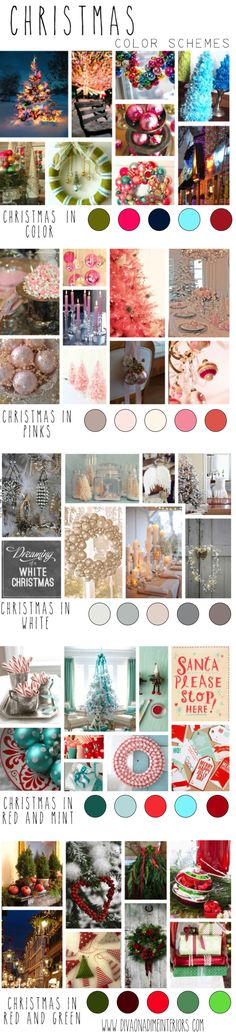 christmas color schemes from diva on a dime interiors