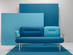 Divano imbottito in tessuto COSMO Collezione The Novelties by Missana | design LaSelva studio