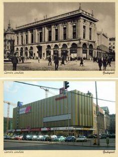 Corvin Áruház - Akkor és Most Budapest, Vintage Ads, Hungary, Old Photos, Louvre, Europe, Country, Architecture, World
