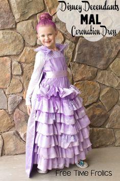 Disney Descendants Mal Coronation Dress | Free Time Frolics