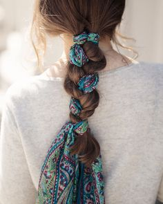 hair inspo - how to tie a silk scarf