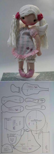 Resultado de imagem para muñecas dani fressato moldes