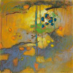 "Rick Stevens 93-10 | pastel on paper | 14 x 14"" | 2010 #abstract #landscape #art"