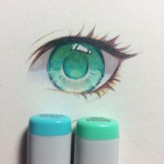 There's something very therapeutic about drawing and coloring eyes lol