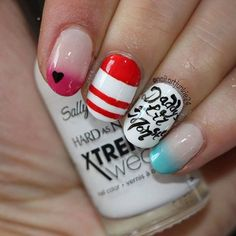 Suicide squad nails Halloween Nail Designs, Cute Nail Designs, Halloween Nails, Halloween Costumes, Love Nails, Pretty Nails, Crazy Nails, Maquillaje Harley Quinn, Essie