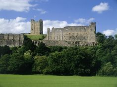 Richmond Castle was originally built to subdue the unruly North of England it is one of the greatest Norman fortresses in Britain.  via English Heritage