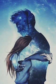 499 images about Drawings ✏ on We Heart It Couple Drawings, Love Drawings, Art Drawings, Drawing Art, Surreal Photos, Cute Cartoon Wallpapers, Dark Photography, Cool Paintings, Cute Love