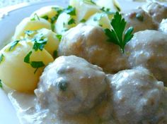 Konigsberger Klopse (German meatballs in creamy caper sauce)  OH MY GOSH! OMA's meatballs!