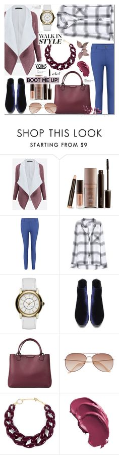 Kick It: Chelsea Boots - Yoins 21 by anyasdesigns on Polyvore featuring Rails, Emporio Armani, Marc Jacobs, DIANA BROUSSARD, H&M and Laura Mercier