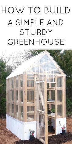 Simple and sturdy greenhouse. #urbangardening