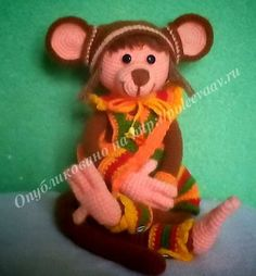 Мастер-класс по вязанию обезьянки