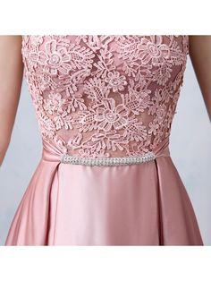 Fancy Straps Bowknot Lace Long Prom Dress