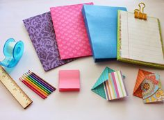 Fabric Cake: 1:3 Scale School Supplies for American Girl and other 18 inch Dolls