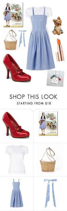 """""""Dorothy from the wizard of oz"""" by tayaberens on Polyvore featuring Pinup Couture, Helmut Lang, Rosetta Getty, L. Erickson and Estée Lauder"""