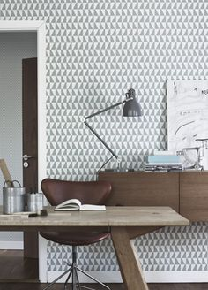 Trapez wallpaper from Boras Tapeter, Tangletree Interiors.