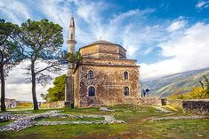 """A weekend in the capital of Epirus promises walks by the lake, museums and unique sites. Finally, Ioannina is """"closer"""" to Athens than ever before. Athens, Taj Mahal, Greece, Museum, Mansions, House Styles, Building, Travel, Beautiful"""