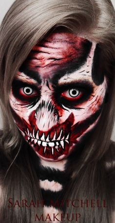 Zombie Skeleton by *sarahmitchellmakeup on deviantART
