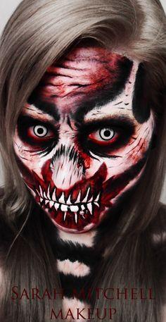 Zombie Skeleton by *sarahmitchellmakeup on deviantART