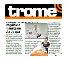 Entrevista realizada en el Diario Trome a nuestro cliente Clínica Saint Paú.